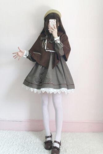 Vintage Japanese Sweet Lolita Princess Manteau kawaii Mori Girl preppy robe style