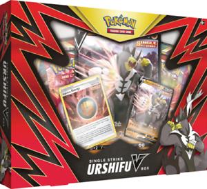Pokemon Single Strike RED Urshifu V Factory Sealed Box
