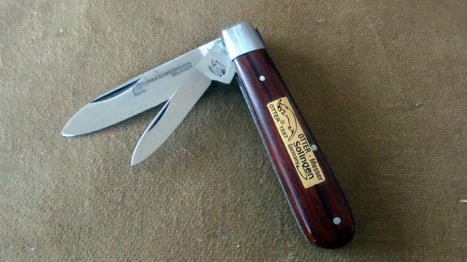 Otter Messer Klapp- Taschen- Sammlermesser 2.teilig aus Solingen