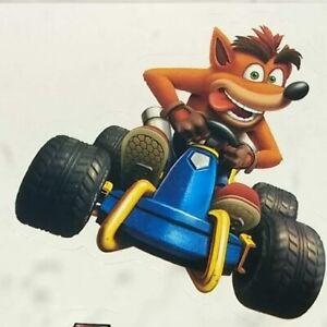 Aimable Crash Bandicoot Team Racing Ps4 Officiel Autocollant 5-6 Cm Playstation 4 Memorabilia-afficher Le Titre D'origine