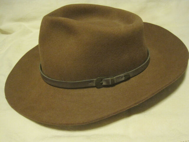 Dynafelt Double X Fur Blend Water Repellent BROWN OUTBACK Cowboy Hat SZ 7-1 9bcef4fc77df