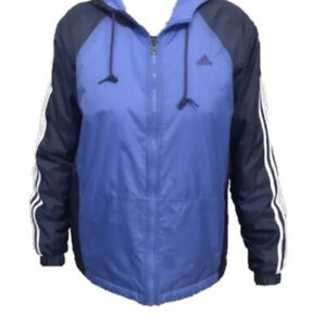 Adidas-Women-s-Purple-Reversible-Fleece-Lined-Hooded-Zip-Jacket-Size-Medium