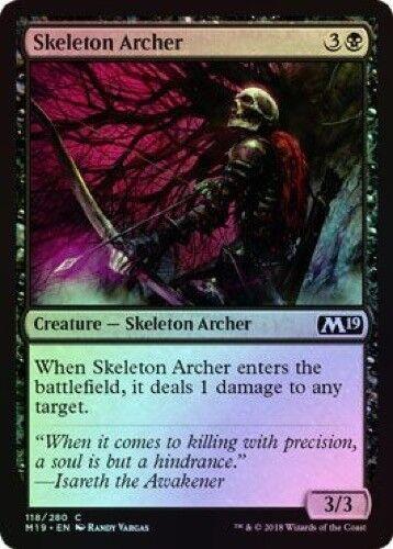 Skeleton Archer (118/280) - M19 Magic 2019 Core Set - Common (Foil)