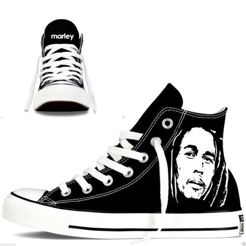 femme Hightops High Star All Converse Custom pour Rasta Marley wq7HTT