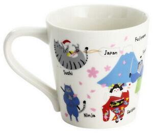 Japan Neko Sankyodai Porcelain Cat Mug Ceramic Cup Neko Coffee Mug Mike 02474