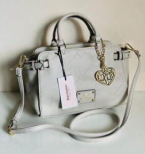 JUICY-COUTURE-HEART-AND-SOUL-LONDON-GREY-CONVERTIBLE-SATCHEL-CROSSBODY-SLING-BAG