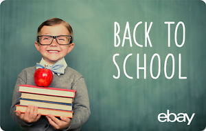 eBay Digital Gift card - Back to School $25 $50 $100 or $200 - Email Delivery