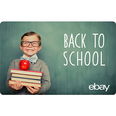 eBay eGift Card - Back to School $25 $50 $100 or $200 - Fast Email Delivery