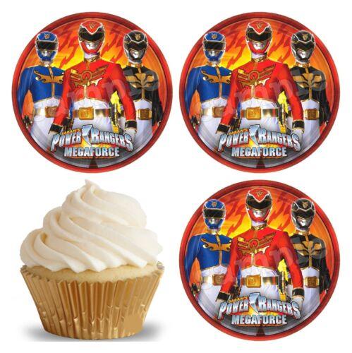 24 Muffin// Cupcake Power Rangers Gateau Disque Azyme Comestible Anniversaire