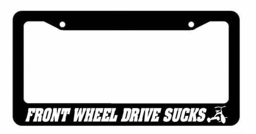 JDM FWD Sucks Scooter Race Drift Low Turbo Black License Plate Frame 3F33