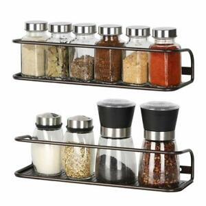 2-Pack-Kitchen-Pantry-Cabinet-Spice-Racks-Wall-Mounted-Spice-Storage-Shelf