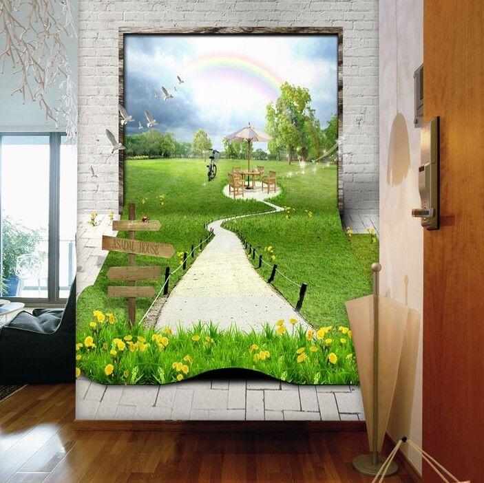 3D Lebensechte Gras11 Fototapeten Wandbild Fototapete Bild Tapete Familie Kinder