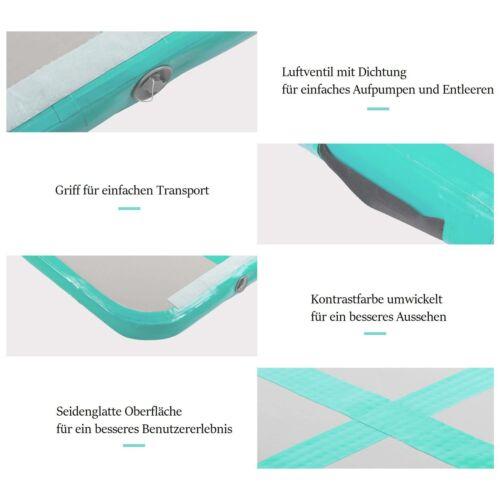 4M Air Turnmatte Track Tumbling Matte Mat Aufblasbar Gymnastikmatte Bahn Pumpe