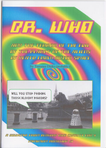 Charity fanzine and v funny! Doctor Who and the Terror of the Evil of the...!