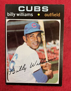 """1971 Topps BILLY WILLIAMS """"Sweet Swinging""""#350 Chicago Cubs HOF"""