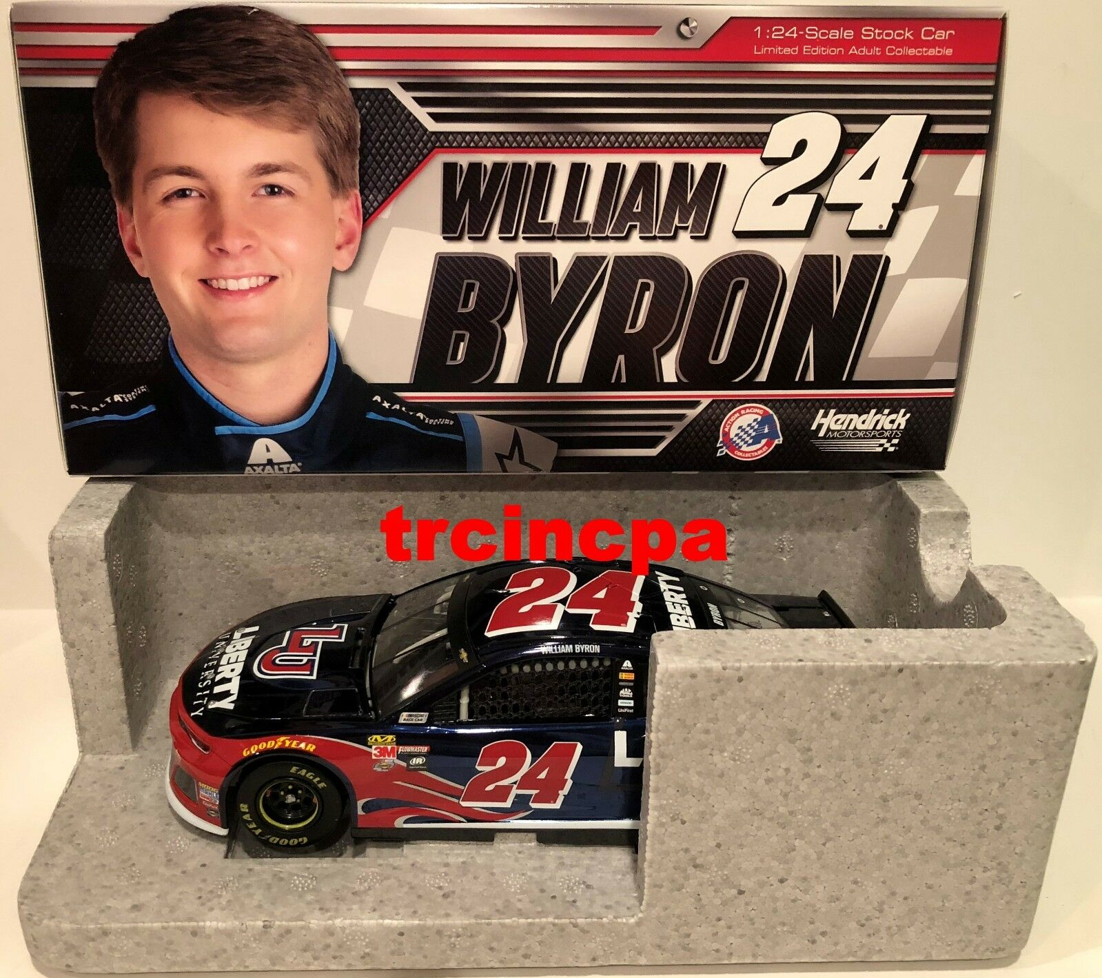 William Byron 2018 Lionel  24 Liberty University Chevy Camaro 1 24 Colore Chrome