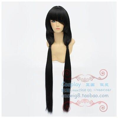 DATE A LIVE Tokisaki Kurumi Nightmare Wig Hair Long Black Cosplay Wig Hair