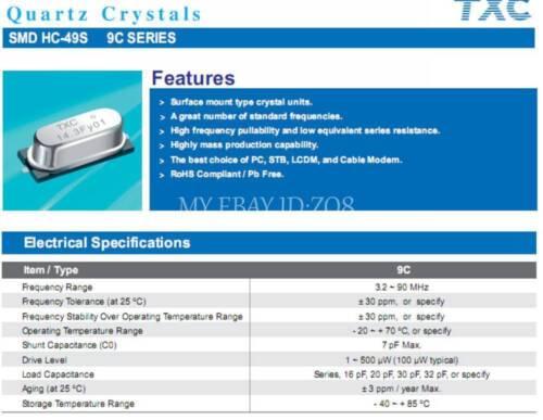 HC-49S//SMD 10PCS 20M 20MHz 20.000M 20.000MHz Crystal Oscillator