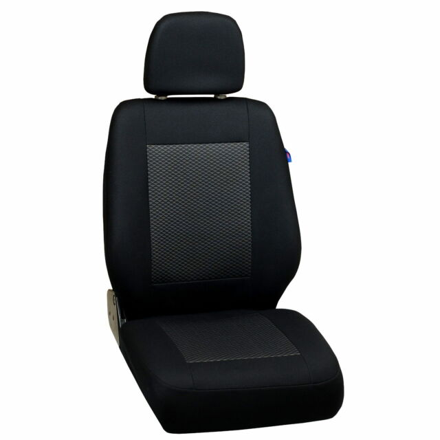 Schwarz-Graue Seat Covers for Mercedes-Benz Vito Car Front Driver's