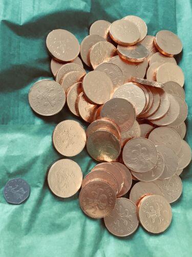 Santa Clé Renne Personnalisé Polar croire Cloche de Noël 40 mm Stocking coin