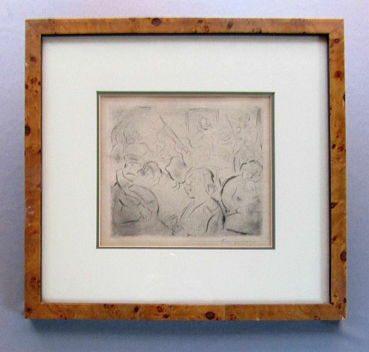 Vintage MICHEL FINGESTEN Original Etching MUSICIANS CABARET Pencil Signed on eBay thumbnail