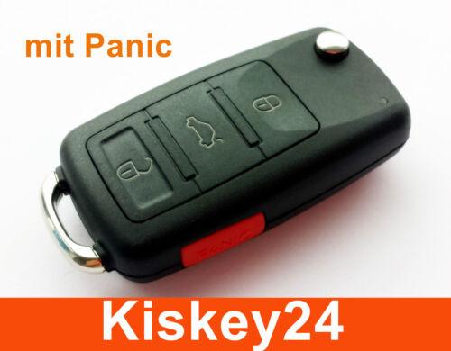 3t clé pliante avec panique pour audi vw skoda seat funkschlüssel Boîtier