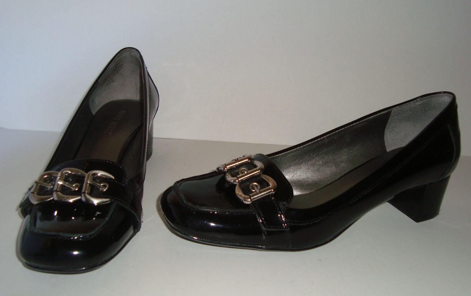 Adorable Nine West ShapeUp Black Patent Medium Heel Pumps  size 6.5 M shoes