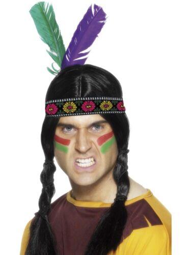 NEW Native American Inspired Feathered Headband Fancy Dress Halloween Accessory