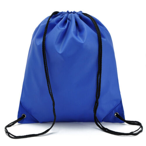 String Drawstring Backpack Cinch Sack Gym Tote Bag School Sport Daily Gym Pack