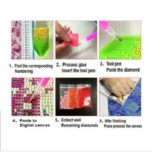 5D DIY Colorful Drill Diamond Painting Mosaic Princess Cross-Stitch Kit Decor