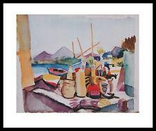 August Macke Landschaft bei Hammamet Poster Kunstdruck mit Alu Rahmen 24x30cm