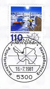 Industrieux Rfa 1981: Recherche Polaire Nº 1100 Avec Le Bonner Ersttags Cachet Spécial! 1 A! 1903-stempel! 1a! 1903fr-fr Afficher Le Titre D'origine