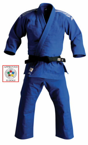 Adidas Champion II Judo Gi 750g Uniform Blue IJF Approved Heavyweight Suit