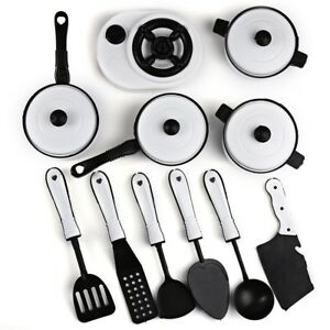 1221 11pcs Simulation Kitchen Utensils Toy Cookware Cooking Toy for Kids Hot