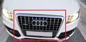 Nuevo-Genuino-Audi-Q5-Gris-PARACHOQUES-DELANTERO-CENTRAL-Radiador-Parrilla-8R0853651C1QP-OEM