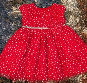 GIRLS-18-MONTHS-GORGEOUS-THICK-LAYERED-RED-MESH-DRESS-MARMELLATA-GLITTER-NEW-NWO