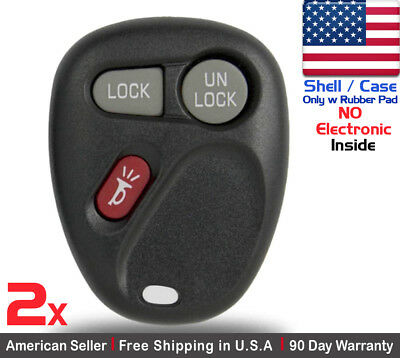 2x New Replacement Keyless Entry Remote Control Key Fob For GMC Chevy Cadillac