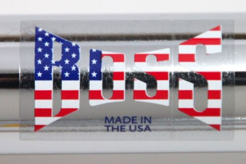 BOSS Racing Products BMX BOSS American Flag Clear Backing DECAL 2 Pair
