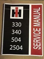 330 International Harvester Tractor Technical Service Shop Repair Manual Farmall