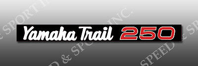 YAMAHA 1974 1975 ? DT250 DT 250 EUROPEAN EXHAUST SHIELD SIDE DECAL GRAPHIC