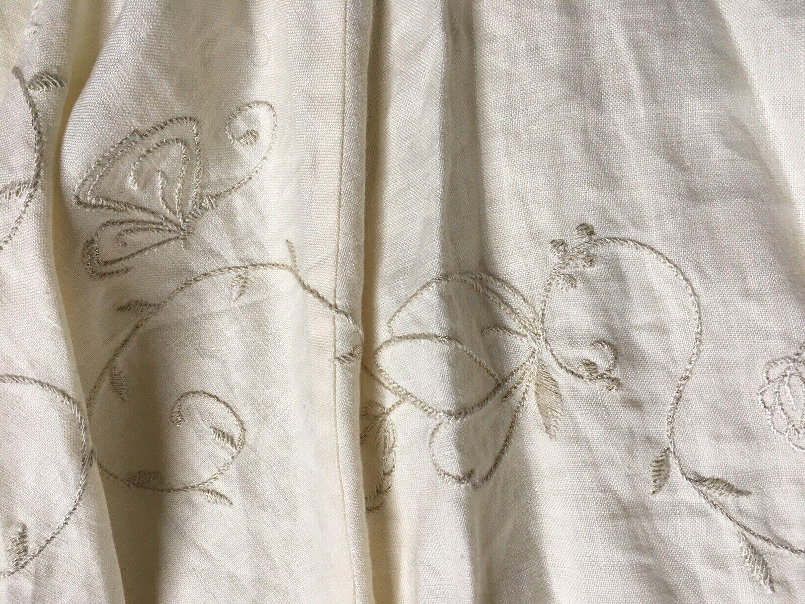 NWOT Marks & Spencer Per Una Women's Off White Detailed Skirt 14r