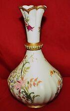 Royal Worcester Blush Ivory Fluted Floral Vase #1532