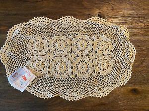 New Crochet Cotton Lace Placemats Dollies Beige 11x18 1 Dozen Per Pack