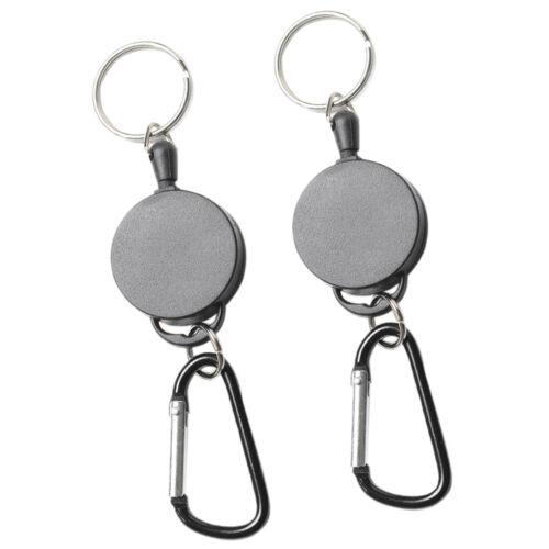 2pcs Heavy Duty versenkbare Schlüsselhalter mit einem einziehbaren