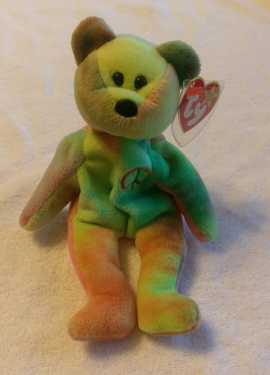 Peace ty ty ty beanie baby with tag error 1996 3aab05