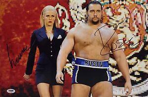Alexander Rusev And Lana Signed WWE 12x18 Photo PSA