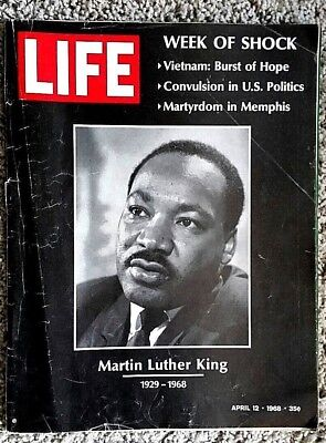 Life Magazine April 12 1968 Martin Luther King's Death Cover