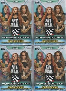 4-2019-Topps-WWE-WOMEN-039-S-DIVISION-Wrestling-Trading-Cards-71c-BLASTER-Box-LOT