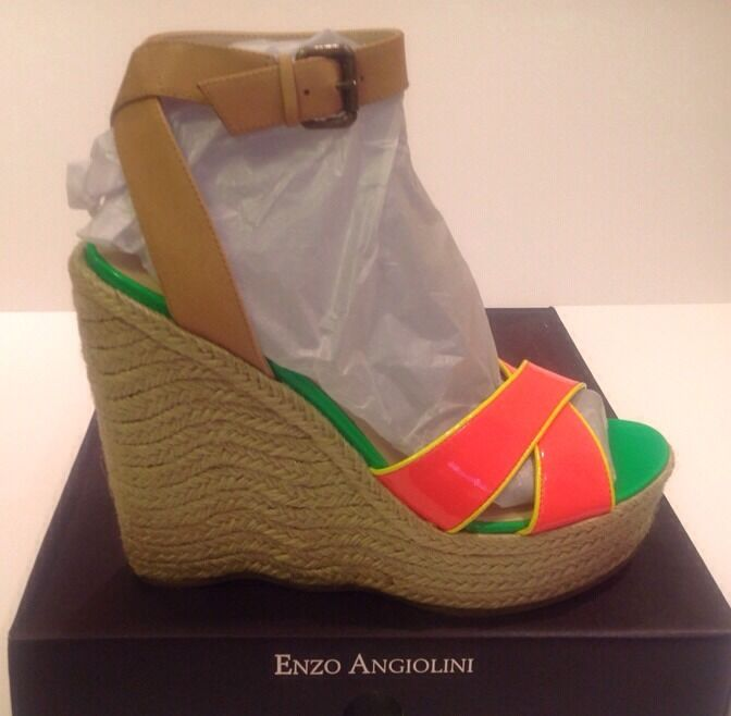 ENZO ENZO ENZO ANGIOLINI Nomas Platform Wedge Sandals DKRosa MS SY Größe 11 M MSRP  99.00 9c7357