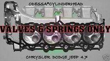 CHRYSLER DODGE JEEP CHEROKEE DAKOTA 4.7 SOHC CYLINDER HEAD valves & spring only
